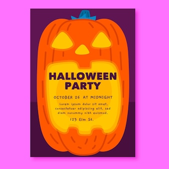 Hand getekend halloween party poster