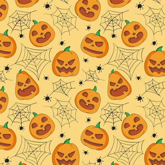 Hand getekend halloween patroon