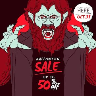 Hand getekend halloween verkoop