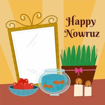 Hand getekend happy nowruz