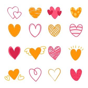 Hand getekend hart collectie