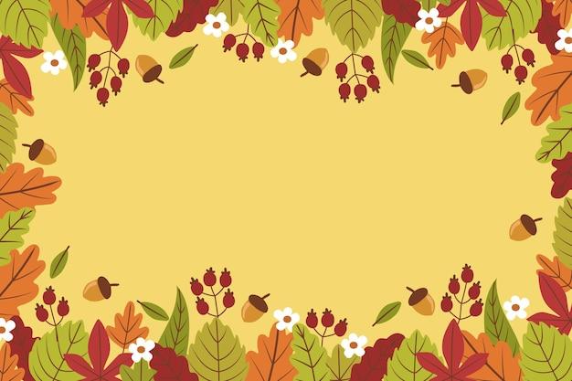 Hand getekend herfst achtergrond