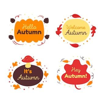 Hand getekend herfst label collectie