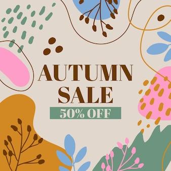 Hand getekend herfst verkoop