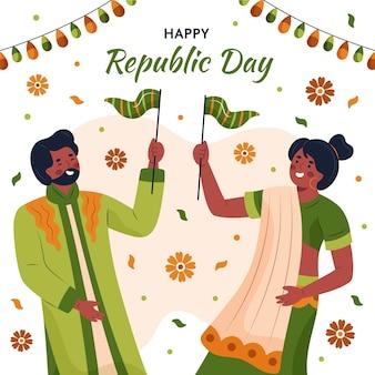 Hand getekend indiase republiek dag