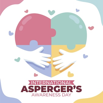 Hand getekend internationale asperger bewustwordingsdag