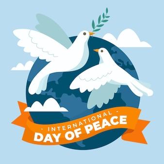 Hand getekend internationale dag van de vrede-concept