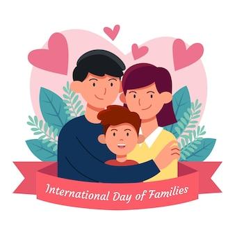 Hand getekend internationale dag van gezinnen illustratie
