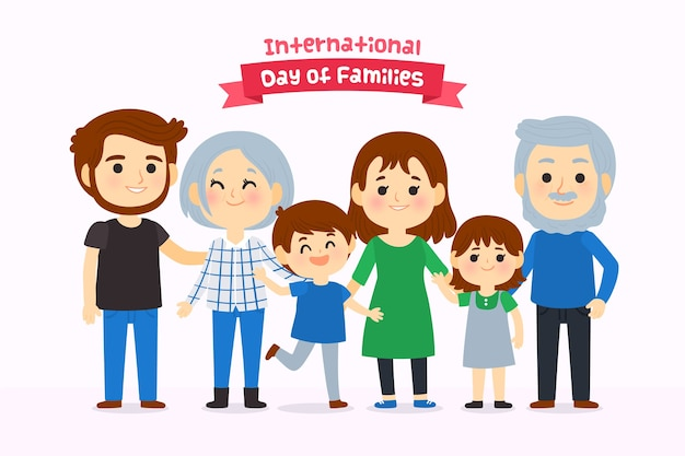 Hand getekend internationale dag van gezinnen
