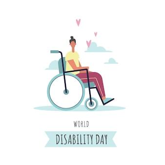 Hand getekend internationale dag van mensen met een handicap