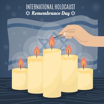 Hand getekend internationale holocaust herdenkingsdag