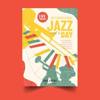 Hand getekend internationale jazz dag poster