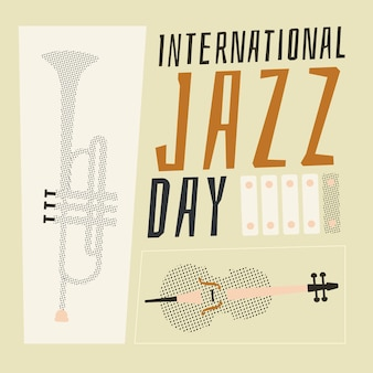 Hand getekend internationale jazzdag