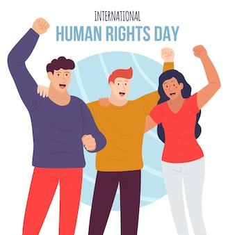 Hand getekend internationale mensenrechtendag