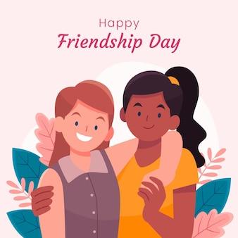 Hand getekend internationale vriendschap dag illustratie