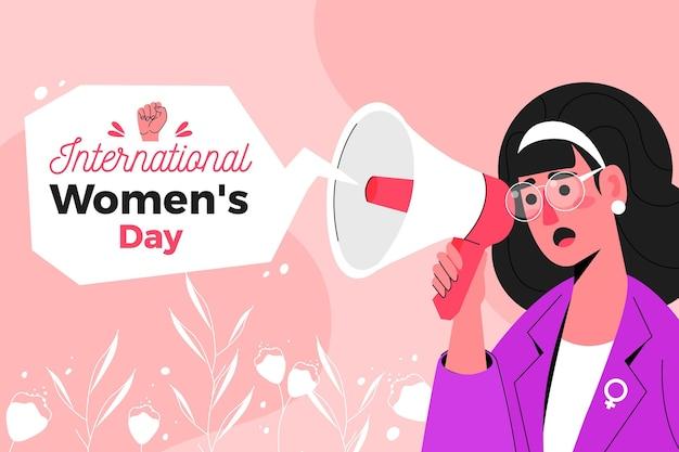 Hand getekend internationale vrouwendag illustratie