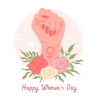 Hand getekend internationale vrouwendag