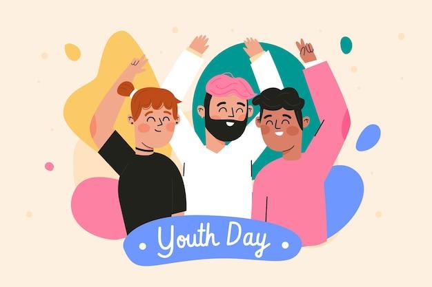 Hand getekend jeugddag concept