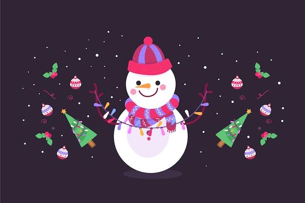 Hand getekend kerst achtergrond concept