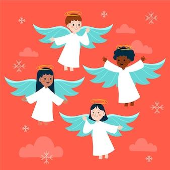 Hand getekend kerst engel collectie