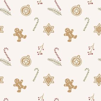 Hand getekend kerst patroon