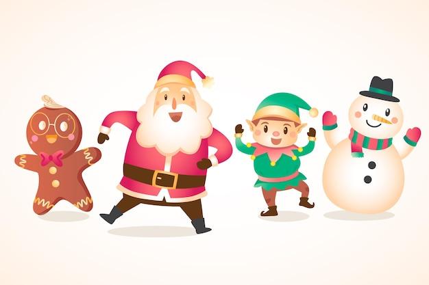 Hand getekend kerst tekens collectie