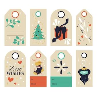 Hand getekend kerst verkoop tag collectie
