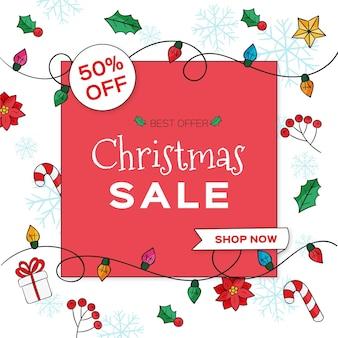 Hand getekend kerst verkoop