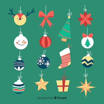Hand getekend kerstballen collectie