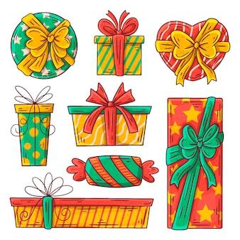 Hand getekend kerstcadeau collectie