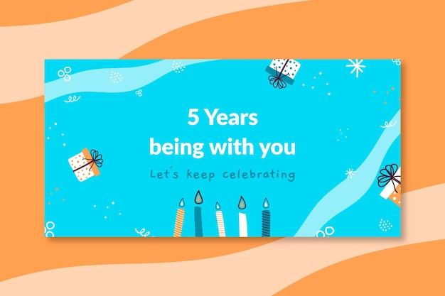Hand getekend kinderlijke verjaardag blog koptekst