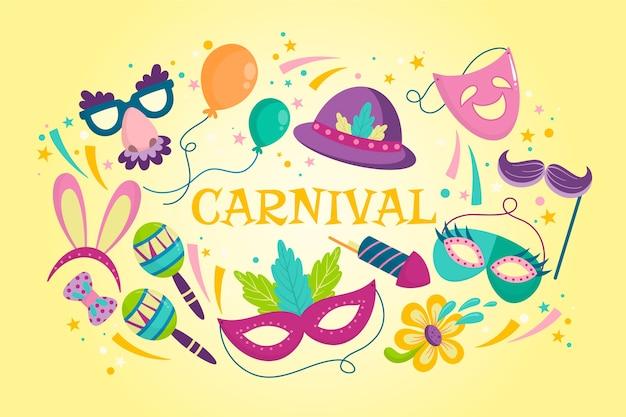 Hand getekend kleurrijk carnaval