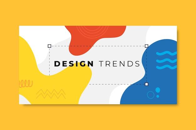 Hand getekend kleurrijk ontwerp blog koptekst