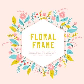 Hand getekend kleurrijk voorjaar frame