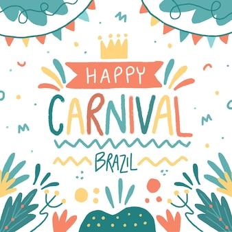Hand getekend kleurrijke illustratie braziliaans carnaval