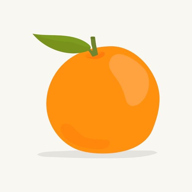 Hand getekend kleurrijke oranje illustratie