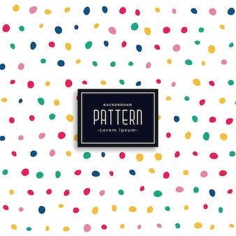 Hand getekend kleurrijke ronde vlekken patroon achtergrond