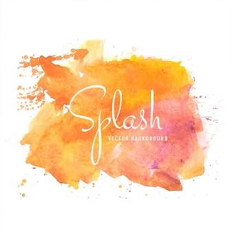Hand getekend kleurrijke zachte aquarel splash ontwerp