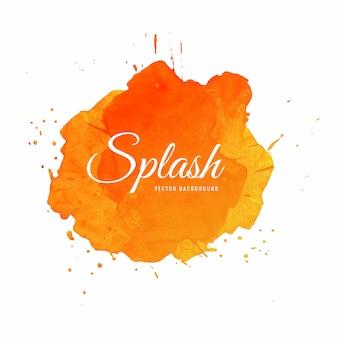 Hand getekend kleurrijke zachte aquarel splash vector