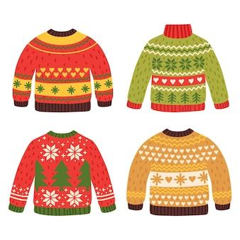 Hand getekend lelijke trui collectie