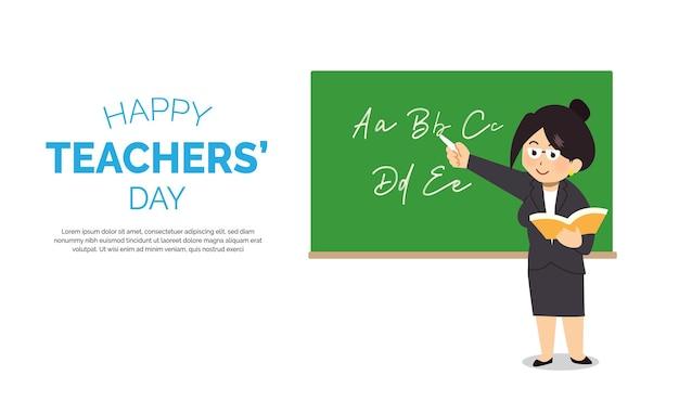 Hand getekend lerarendag concept