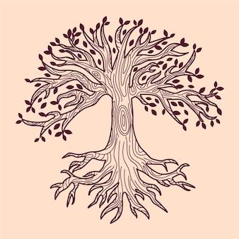 Hand getekend levensboom