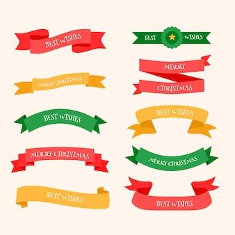 Hand getekend lint collectie van kerstmis