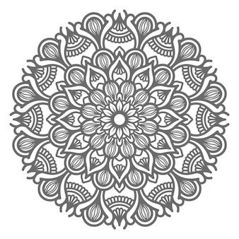 Hand getekend mandala illustratie decoratief concept