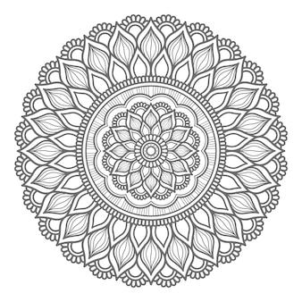 Hand getekend mandala ontwerp