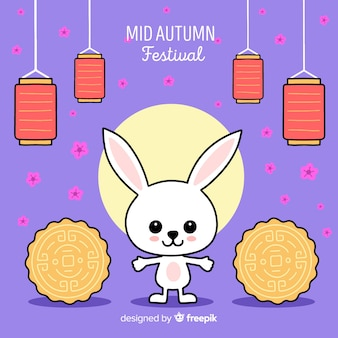 Hand getekend medio herfst festival
