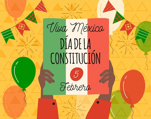 Hand getekend mexico grondwet dag