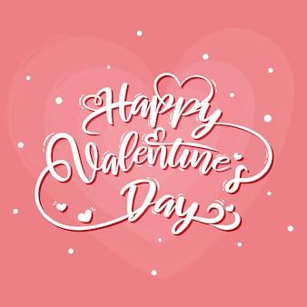 Hand getekend minimale valentijnsdag belettering kaart