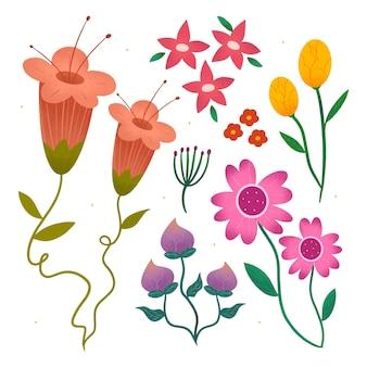 Hand getekend mooie bloemencollectie