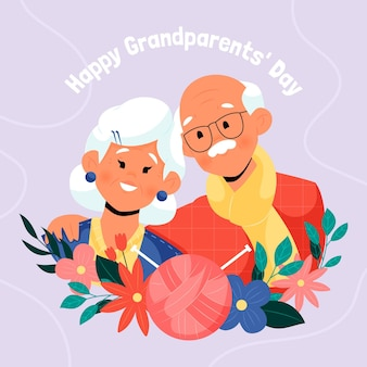 Hand getekend nationale grootouders dag achtergrond